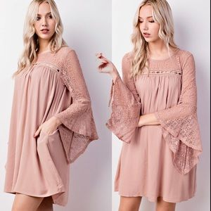 """""""Molly"""" Lacy Pocketed Woven Dress"""